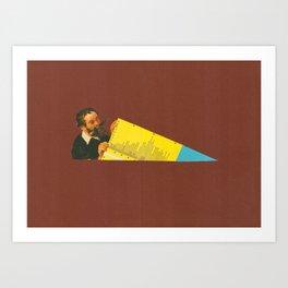 Yellow Chart Art Print