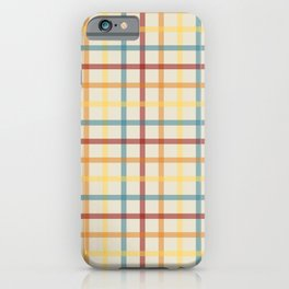 Multi Check 1 - red teal orange yellow iPhone Case