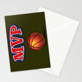Most Valuable Player. Basket Stationery Cards