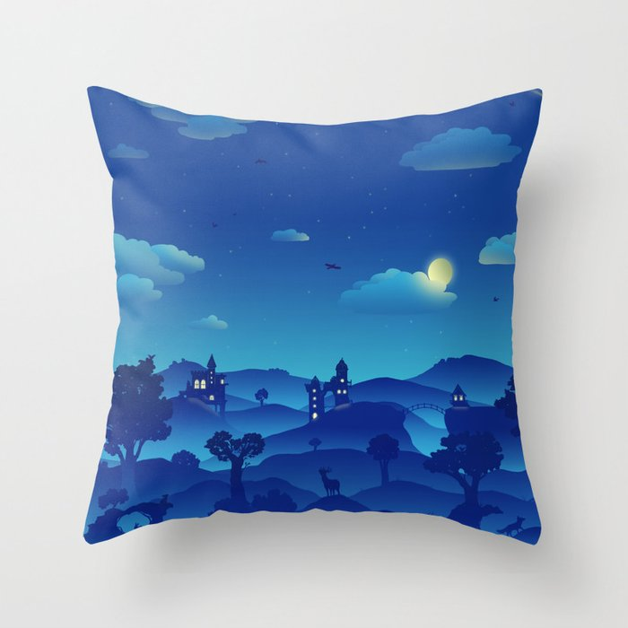 Fairytale Dreamscape Throw Pillow