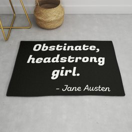 Pride and Prejudice Quote II Rug
