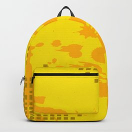 Yellow pattern Backpack