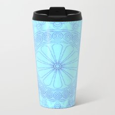 Mandala blue Metal Travel Mug