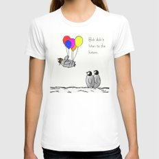 To be a Flying Penguin Womens Fitted Tee SMALL White