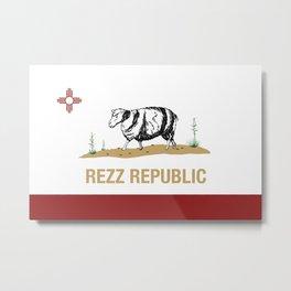 Rezz Republic Metal Print