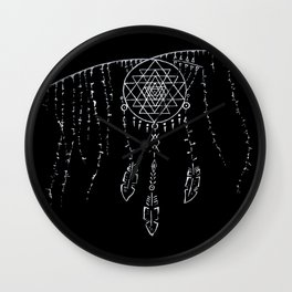 Shri Yantra / Dream Catcher Wall Clock
