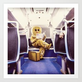 Gingerbread Man At Large Pt3 Art Print
