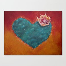 Cactus Heart Canvas Print