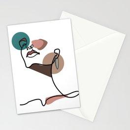 Feminine Facial Contour Stationery Cards