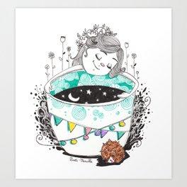 Pique en boule Art Print
