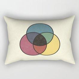 Matthew Luckiesh: The Subtractive Method of Mixing Colors (1921), vintage re-make Rectangular Pillow