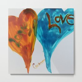 Love duo | Duo d'amour Metal Print