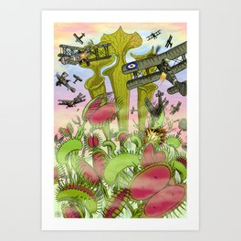 Plants Vs Planes Art Print