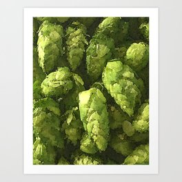 Fresh Cascade Hops Art Print