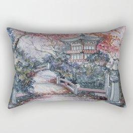 Autumn (Watercolor painting) Rectangular Pillow