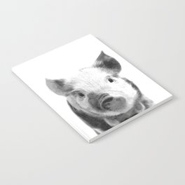 Black and white pig portrait Notebook