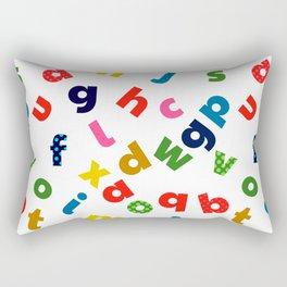 colourful alphabet Rectangular Pillow