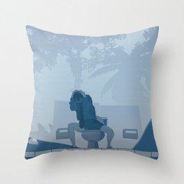 Jurassic Park poster - feat. Donald Gennaro Throw Pillow