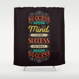 Lab No. 4 Success Is Joyce Brothers Life Inspirational Quote Shower Curtain