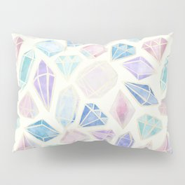 Pastel Watercolor Gems Pillow Sham