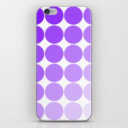 Violet Circle Color Chart iPhone Skin