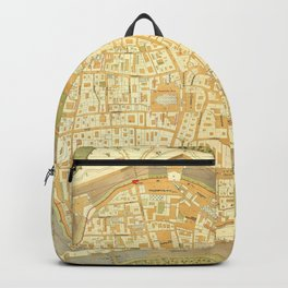 Vintage Map of Vienna Austria (1547) Backpack