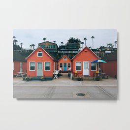 Beach Bungalows Metal Print