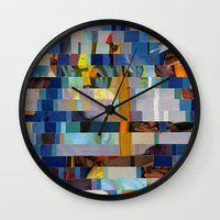 transformer Wall Clocks featuring Up The Creek Without A Poodle (Provenance Series) by Wayne Edson Bryan