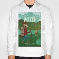 oregon Hoodies featuring Oregon by Santiago Uceda