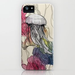 Watercolour Jellyfish iPhone Case