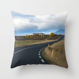 I.C.E.L.A.N.D - Ring Road Throw Pillow