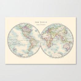 Hemispheres Canvas Print
