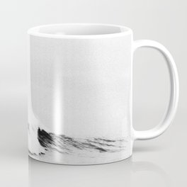 Minimalist Black and White Ocean Wave Photograph Coffee Mug
