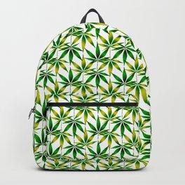 WEED LOVE, GREEN YELLOW Cannabis Smoke Marijuana Backpack