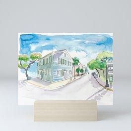 Mile 0 Marker Key West - Sunny Whitehead Street Mini Art Print