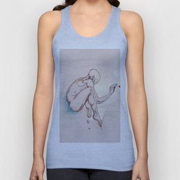 Have nots, depressed female figure, NYC artist Unisex Tank Top