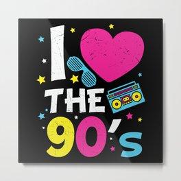 1990's 90s Heart the Nineties Metal Print
