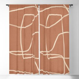 Abstract line art 22 Blackout Curtain
