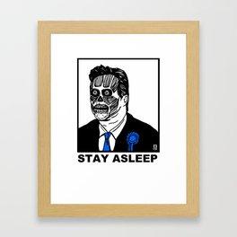 Stay Asleep Framed Art Print