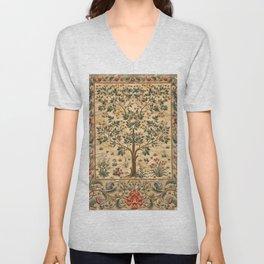 """William Morris """"Tree of life"""" 3. Unisex V-Neck"""