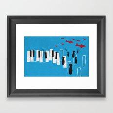 Drone piano Framed Art Print