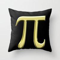 pi Throw Pillows featuring pi by Precious Art Print