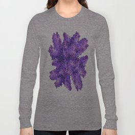 Purple Lilac Bouquet on Teal Color Long Sleeve T-shirt