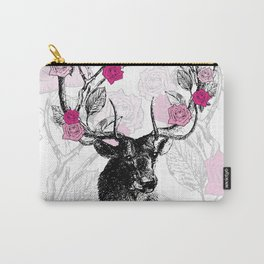 The Stag and Roses Carry-All Pouch
