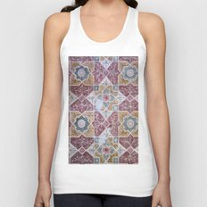 Geometric Wall Pattern Unisex Tank Top