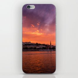 Budapest sunset iPhone Skin