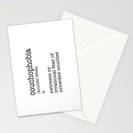 Couchophobia Stationery Cards