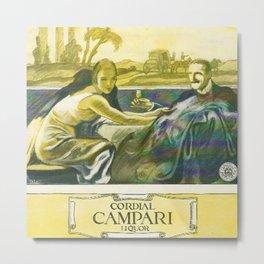 Vintage 1924 Campari Advertisement by Marcello Dudovich Metal Print