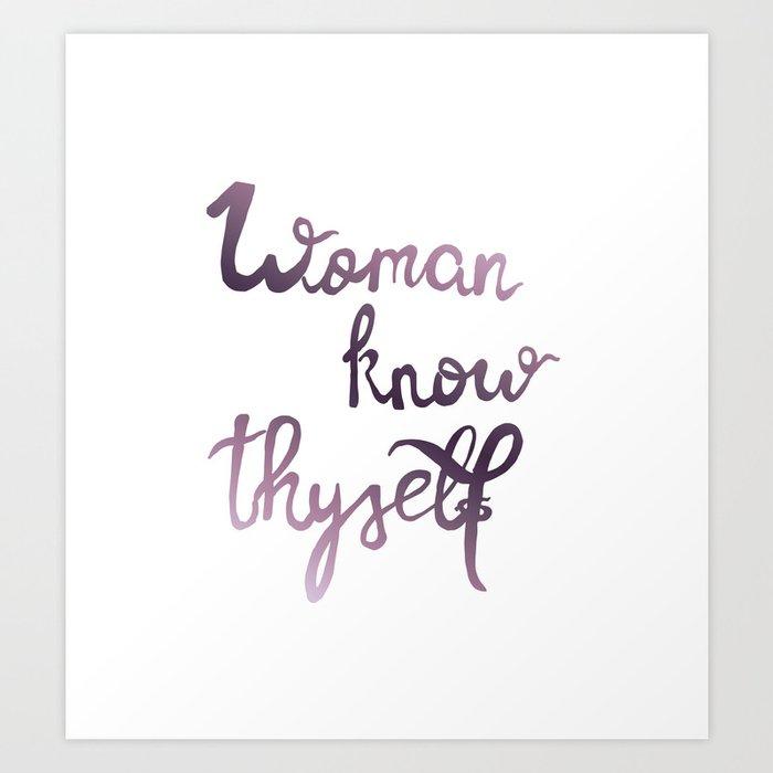 woman know thyself