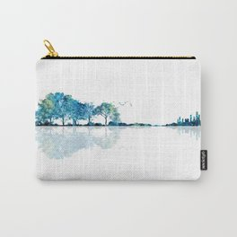 Nature Guitar - Watercolor Blues Carry-All Pouch